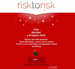 Felicitacion Navideña Risktorisk 2015